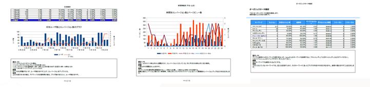 ウェブ解析グラフ
